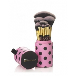 BH Cosmetics - Pink A Dot Brush Set - sada 11 štětců